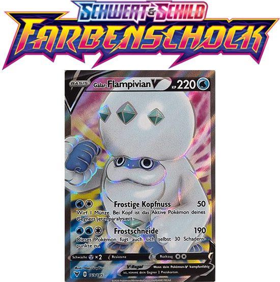 Pokémon Farbenschock Galar-Flampivian-V 169/185 FULLART