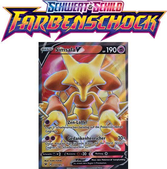 Pokémon Farbenschock Simsala-V 172/185 FULLART