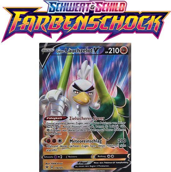 Pokémon Farbenschock Galar-Lauchzelot-V 174/185 FULLART