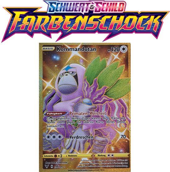Pokémon Farbenschock Kommandutan 199/185 GOLDRAND