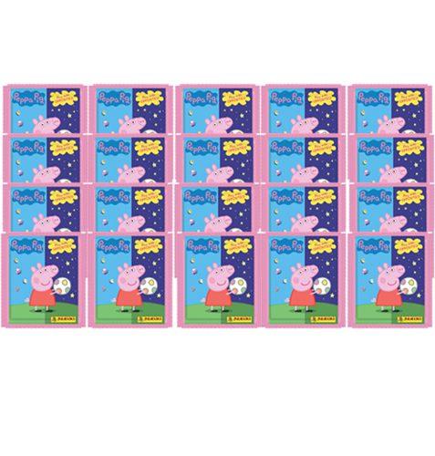Panini Peppa Pig Spiele mit Gegensätzen Sticker - 20x Tüten