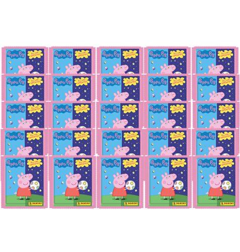 Panini Peppa Pig Spiele mit Gegensätzen Sticker - 25x Tüten