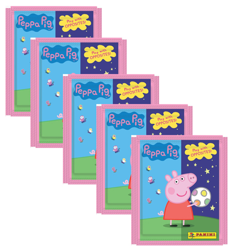 Panini Peppa Pig Spiele mit Gegensätzen Sticker - 5x Tüten