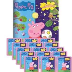 Panini Peppa Pig Spiele mit Gegensätzen Sticker - 1x Album + 15x Tüten