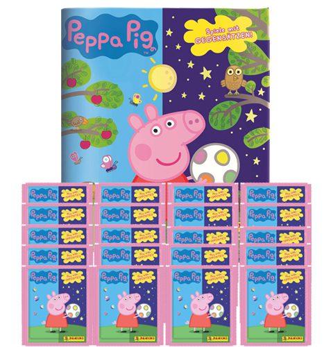 Panini Peppa Pig Spiele mit Gegensätzen Sticker - 1x Album + 20x Tüten