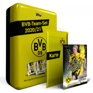 Topps BVB Team Set 2020/21 + 1x nummerierte Parallel-Karte gratis!