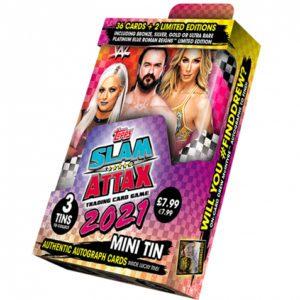 WWE Slam Attax 2021 Mini Sammeldose (Pink & Orange Dose)