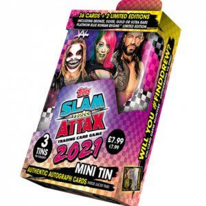 Topps WWE Slam Attax 2021 Mini Tin Blau & Pink Dose