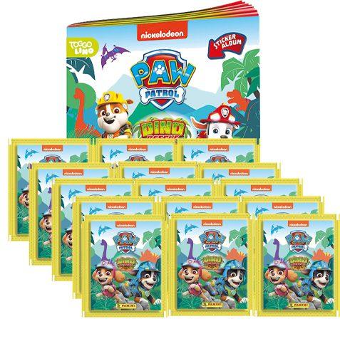 Panini Paw Patrol Dino Rescue Sticker 1x Album + 15 Tüten