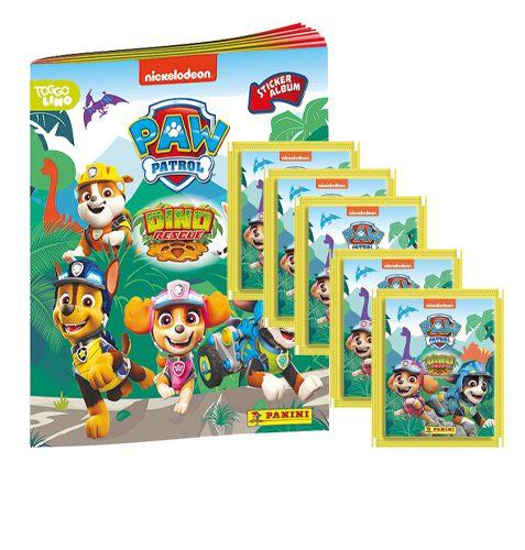 Panini Paw Patrol Dino Rescue Sticker 1x Album + 5 Tüten