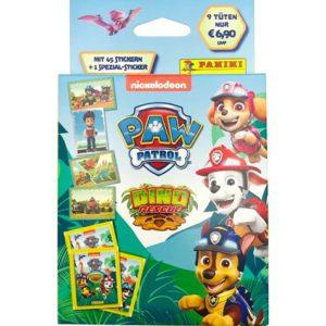 Panini Paw Patrol Dino Rescue Sticker - Blister je 9 Tüten