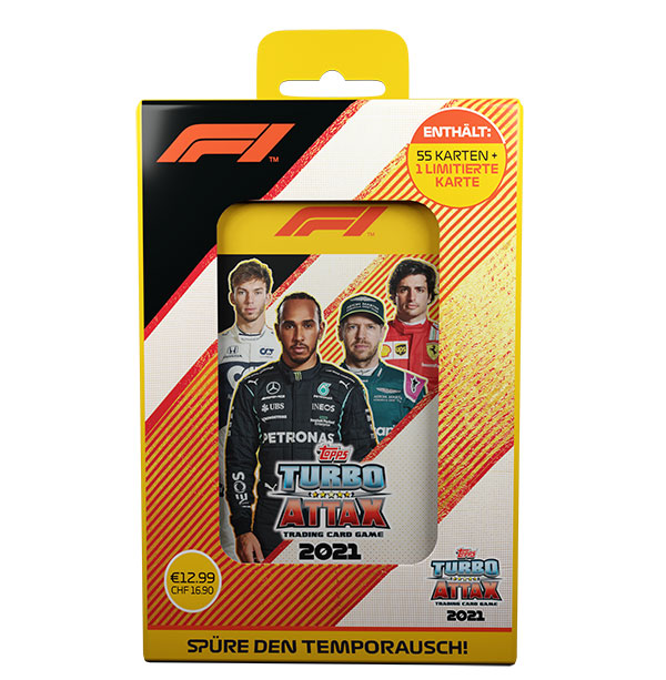 Topps Formula 1 Turbo Attax 2021 Trading Cards - 1x Mega Tin