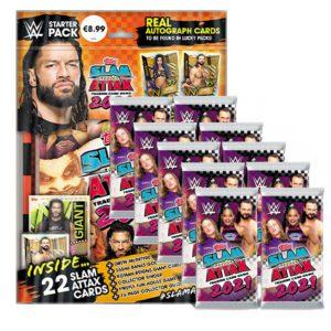 Topps WWE Slam Attax 2021 Starterpack + 10 Booster