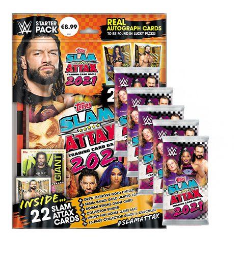 Topps WWE Slam Attax 2021 Starterpack + 5 Booster