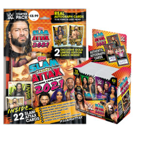 Topps WWE Slam Attax 2021 Starterpack + Display