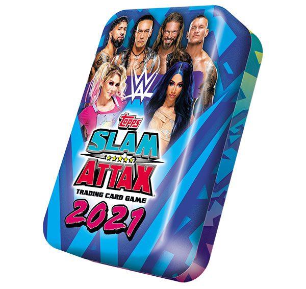 WWE Slam Attax 2021 Mega Tin Blau