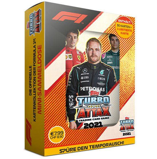 Topps Formula 1 Turbo Attax 2021 Trading Cards - 1x Mini Tin