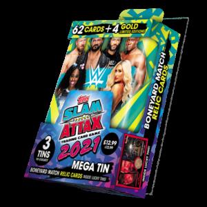WWE Slam Attax 2021 Mega Tin Grün