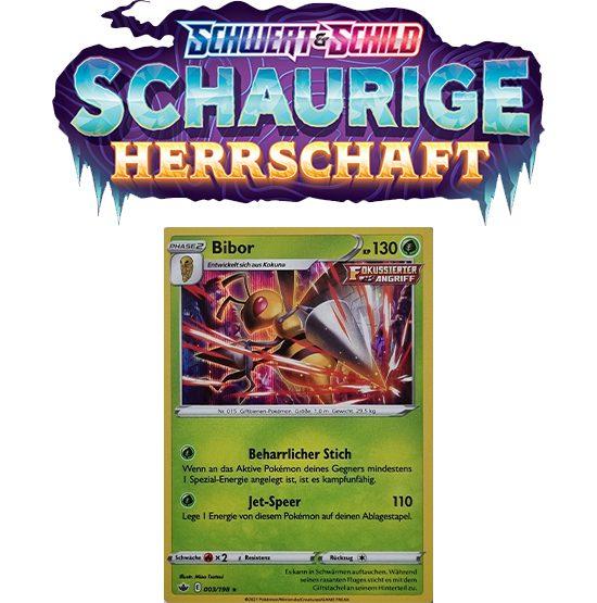 Pokémon Schaurige Herrschaft 003/198 Bibor HOLO
