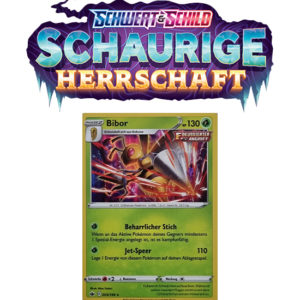 Pokémon Schaurige Herrschaft 003/198 Bibor HOLO REVERSE