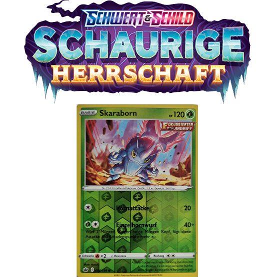 Pokémon Schaurige Herrschaft 006/198 Skaraborn REVERSE HOLO
