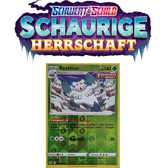 Pokémon Schaurige Herrschaft 010/198 Rexblisar REVERSE HOLO