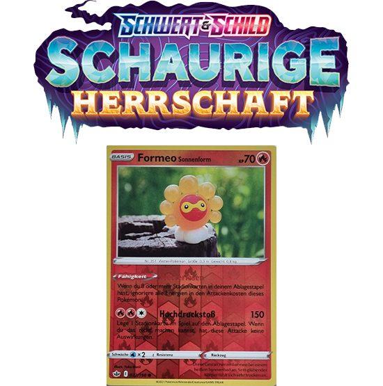 Pokémon Schaurige Herrschaft 022/198 Formeo Sonnenform REVERSE HOLO
