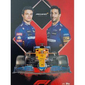 Turbo Attax 2021 Nr 028 McLaren F1 Team Card