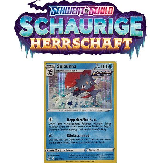 Pokémon Schaurige Herrschaft 031/198 HOLO Snibunna