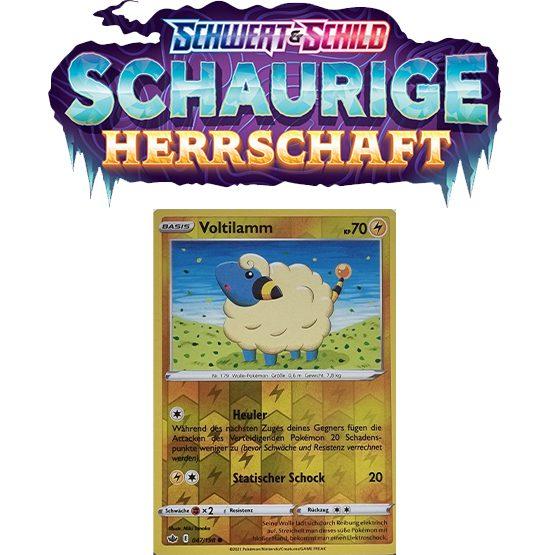 Pokémon Schaurige Herrschaft 047/198 Voltilamm REVERSE HOLO