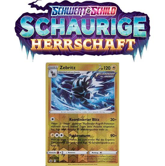 Pokémon Schaurige Herrschaft 051/198 Zebritz REVERSE HOLO