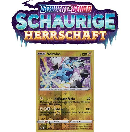 Pokémon Schaurige Herrschaft 052/198 Voltolos REVERSE HOLO