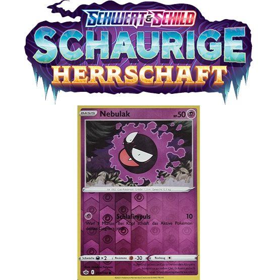 Pokémon Schaurige Herrschaft 055/198 Nebulak REVERSE HOLO