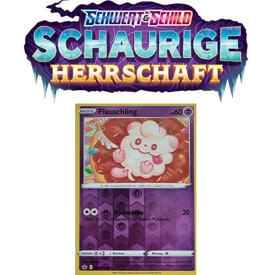 Pokémon Schaurige Herrschaft 067/198 Flauschling REVERSE HOLO