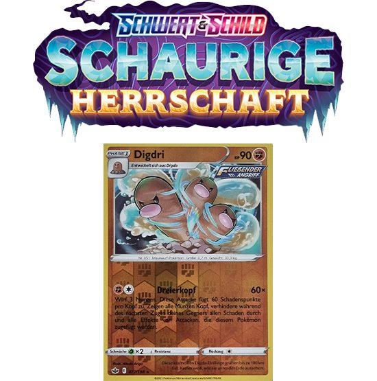 Pokémon Schaurige Herrschaft 077/198 Digdri REVERSE HOLO