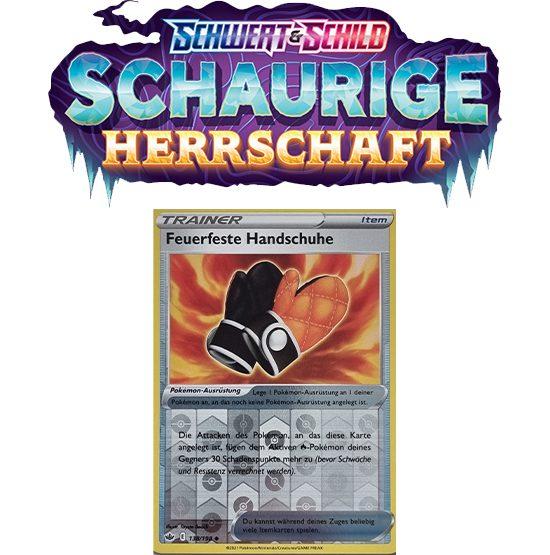 Pokémon Schaurige Herrschaft 138/198 Feuerfeste Handschuhe REVERSE HOLO