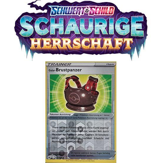Pokémon Schaurige Herrschaft 141/198 Galar-Brustpanzer REVERSE HOLO