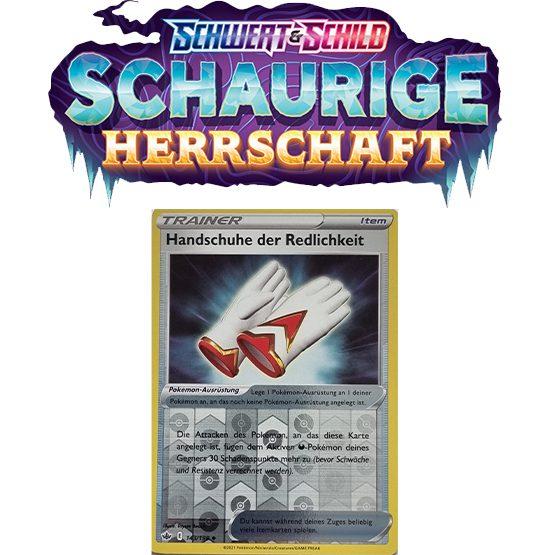 Pokémon Schaurige Herrschaft 143/198 Handschuhe der Redlichkeit REVERSE HOLO