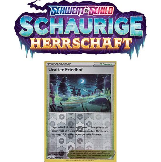 Pokémon Schaurige Herrschaft 147/198 Uralter Friedhof REVERSE HOLO