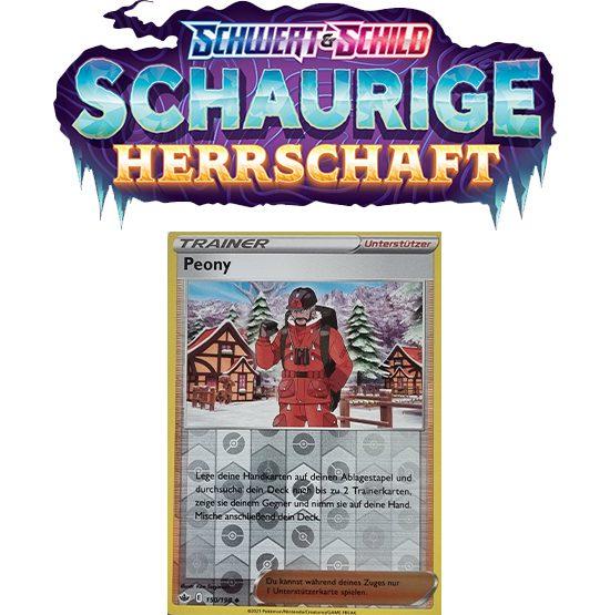 Pokémon Schaurige Herrschaft 150/198 Peony REVERSE HOLO