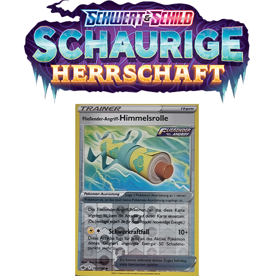 Pokémon Schaurige Herrschaft 151/198 Fließender-Angriff-Himmelsrolle REVERSE HOLO