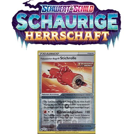 Pokémon Schaurige Herrschaft 154/198 Fokussierter-Angriff-Stichrolle REVERSE HOLO