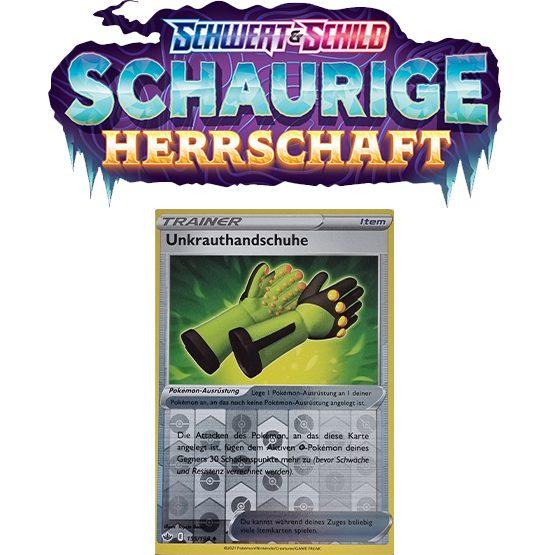 Pokémon Schaurige Herrschaft 155/198 Unkrauthandschuhe REVERSE HOLO