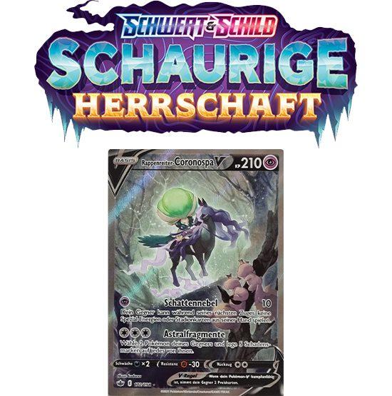 Pokémon Schaurige Herrschaft 172/198 Rappenreiter-Coronospa-V FULLART