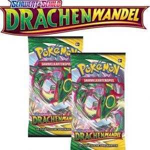 Pokémon Schwert und Schild Drachenwandel 2x Booster