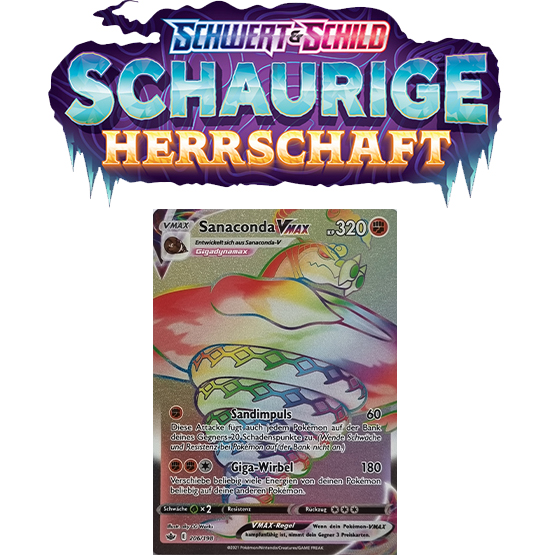 Pokémon Schaurige Herrschaft 206/198 Sanaconda-VMAX RAINBOW