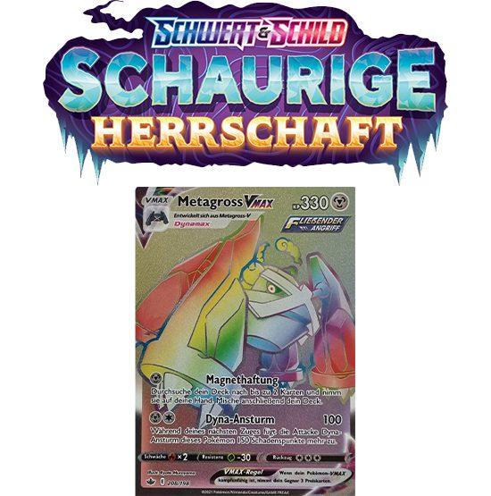 Pokémon Schaurige Herrschaft 208/198 Metagross-VMAX RAINBOW