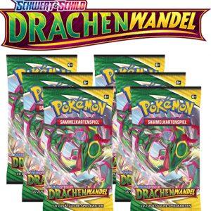 Pokémon Schwert und Schild Drachenwandel 6x Booster