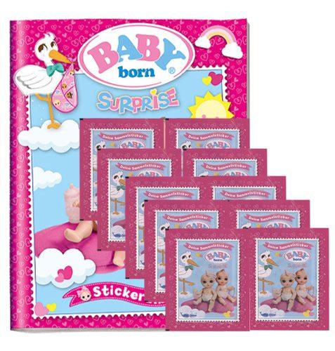Baby Born Surprise Sticker - Sammelalbum + 10 Tüten