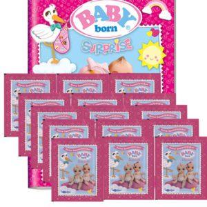 Baby Born Surprise Sticker - Sammelalbum + 15 Tüten